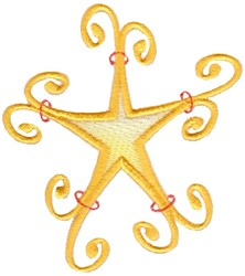 Swirly Star embroidery design
