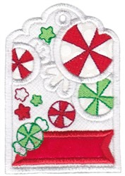 Candy Tag embroidery design