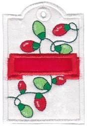 Xmas Tag embroidery design