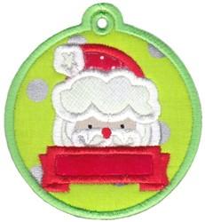 Santa Tag embroidery design