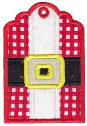 Santa Claus Tag embroidery design