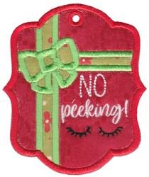 No Peeking embroidery design