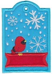 Cardinal Tag embroidery design