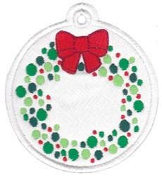 Wreath Tag embroidery design