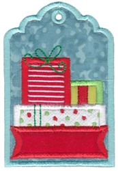 Gift Tag embroidery design