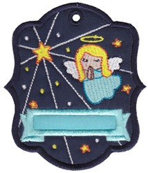 Angel Tag embroidery design