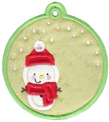 Snowman Tag embroidery design