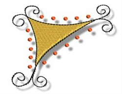 Curly Triangle embroidery design