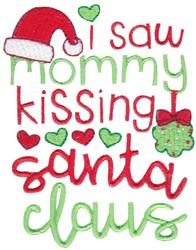 Kissing Santa Claus embroidery design