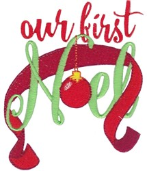Our First Noel embroidery design