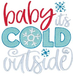 Cold Outside embroidery design