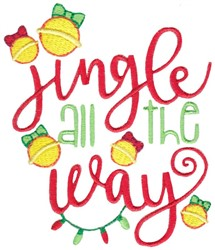 Jingle All Way embroidery design