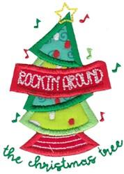 Rockin Around embroidery design