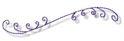 Curly Lines embroidery design