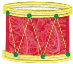Applique Drum embroidery design