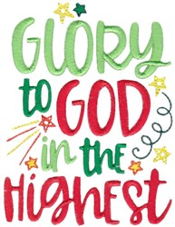 Glory To God In The Highest embroidery design