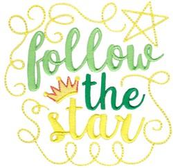 FollowThe Star embroidery design