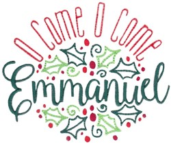 O Come Emmanuel embroidery design