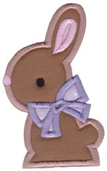 Easter Bunny Applique Too embroidery design