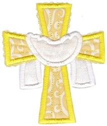 Easter Applique Too Cross embroidery design