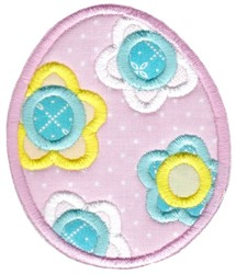 Easter Applique Too Egg embroidery design