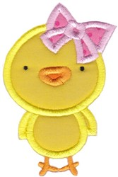 Easter Applique Too Chick embroidery design