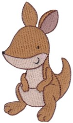 Australian Animal Kangaroo embroidery design