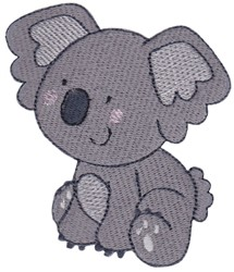 Australian Animal Koala embroidery design