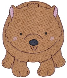Australian Animal Wombat embroidery design
