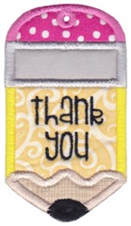 Thank You Gift Tag Applique embroidery design