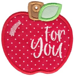 Apple Gift Tag Applique embroidery design
