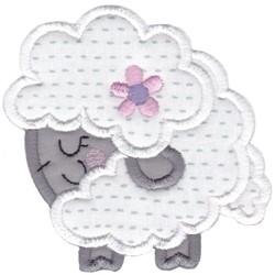 Round Sheep Animal Applique embroidery design