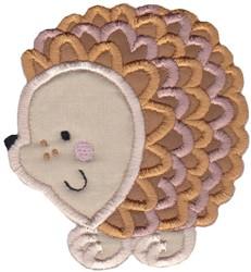 Round Hedgehog Animal Applique embroidery design
