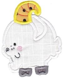 Round Ram Animal Applique embroidery design