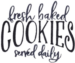 Fresh Baked Cookies embroidery design