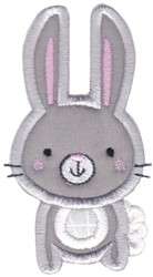 Boxy Forest Animals Applique Rabbit embroidery design