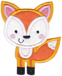 Boxy Forest Animals Applique Fox embroidery design