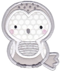 Boxy Forest Animals Applique Owl embroidery design