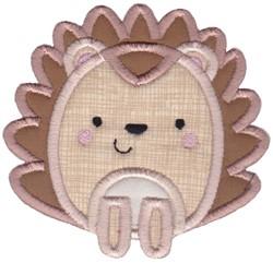 Boxy Forest Animals Applique Hedgehog embroidery design