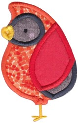 Boxy Forest Animals Applique Cardinal embroidery design