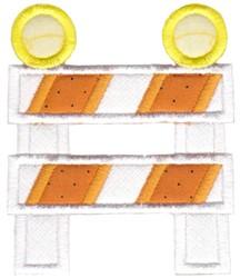 Construction Applique Barrier embroidery design