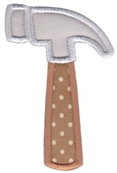 Construction Applique Hammer embroidery design