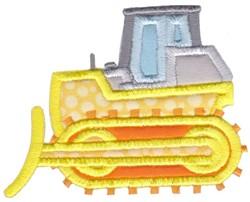 Construction Applique Bulldozer embroidery design