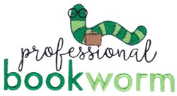 Professional Bookworm embroidery design