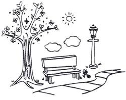 Library Sentiment Scene embroidery design