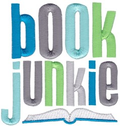 Book Junkie embroidery design