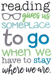 Someplace To Go embroidery design
