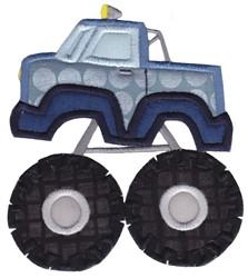 Lets Go Monster Truck Applique embroidery design