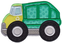 Lets Go Garbage Truck Applique embroidery design