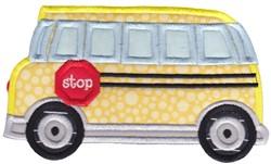 Lets Go School Bus Applique embroidery design